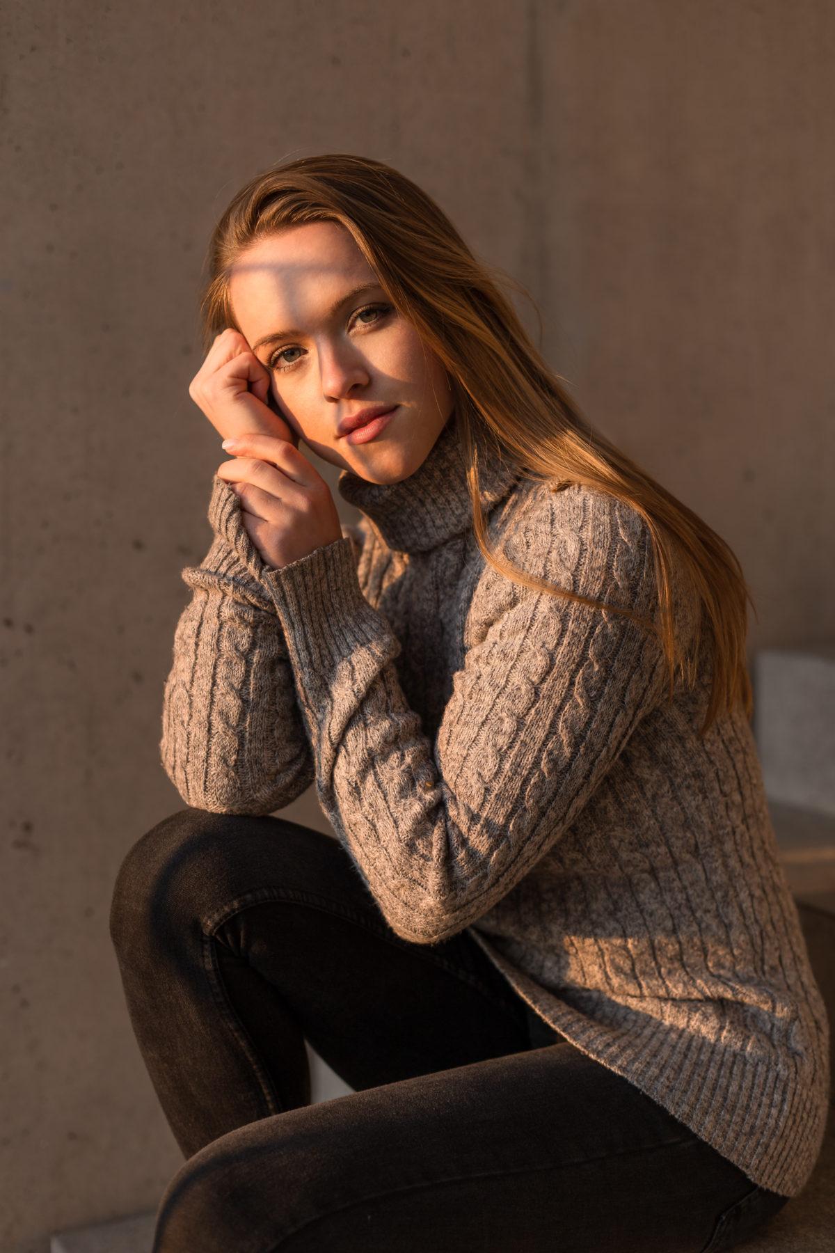 Portraitaufnahme von Eva